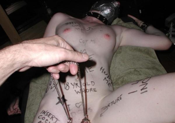 (胸糞注意)性奴隷は身体に落書きをされるところがスタートラインらしい。。。誰得感パネぇ・・・(写真あり)