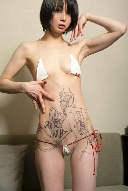 【マジキチ】ペチャパイの女がマイクロビキニ着てるのに遭遇したんだけど、キチ〇イって事でもういいよな?(画像あり)・11枚目