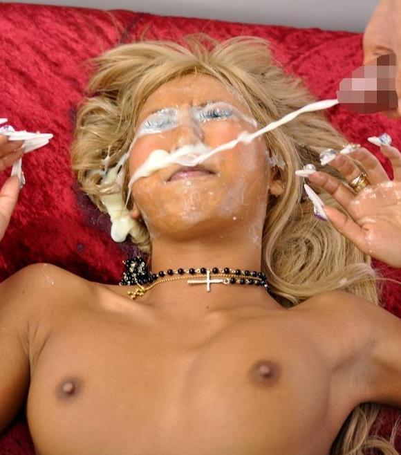 【窒息注意】多精子症の男が顔射した時のまんさんの顔、怖杉事案。これもう難病指定でええやろ。(画像あり)・8枚目