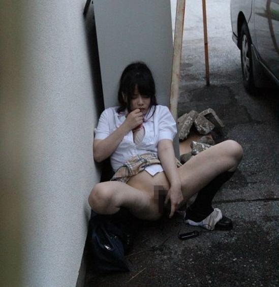 【思春期】心を病んだ女子、、、野外でオナニーをなさる。(画像あり)・23枚目