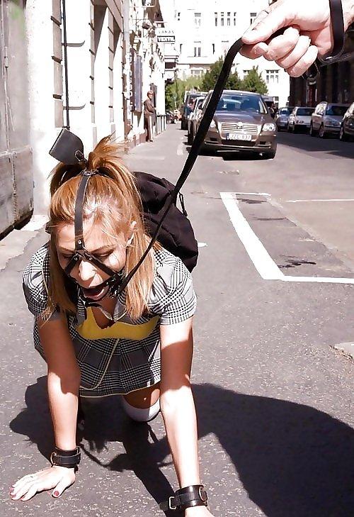【エロ画像】本場の性処理ペットの皆さん、普通に街中を散歩させられてて草wwwwwwwwwwwwwww・22枚目