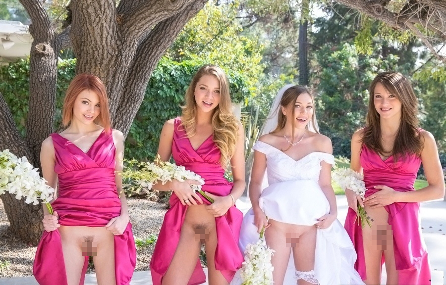 【エロ画像】変態カップルが結婚式を行った結果。親族全員メンタルボロボロでワロタwwwwww・1枚目