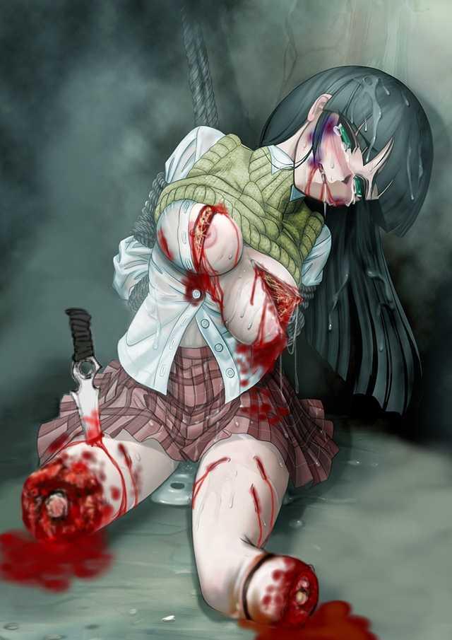 【閲覧注意】女が惨殺されてる瞬間で抜くというジャンル。正直キツイ・・・(画像30枚)・26枚目