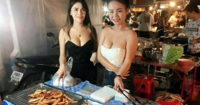 【※売上アップ】アジアの屋台の売り子がエロすぎると話題に。このアダルト商法は卑怯やろwwwwwwwwwwwww(画像)・7枚目