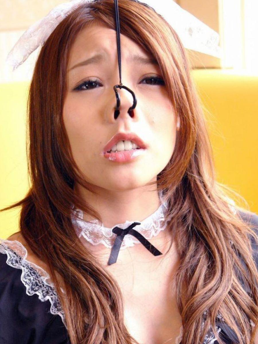 【過激】SMプレイで鼻フック使われた女をご覧ください。誰得やろwwwwwwwwwwwwwww・12枚目