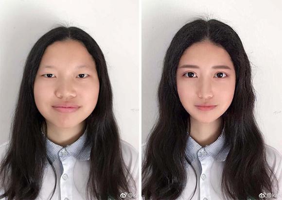 【詐欺】インスタ美女の写真修正技術が「プロ並みだろ」と話題の比較画像をご覧ください。。(画像あり)・14枚目