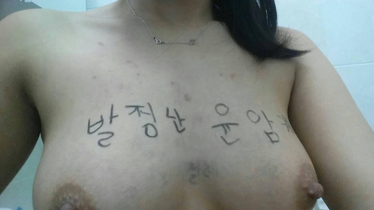 【韓国版】ハングル文字で淫語を書かれた韓国の肉便器さん、拡散され咽び泣くwwwwwwwwwwwwww(画像あり)・19枚目