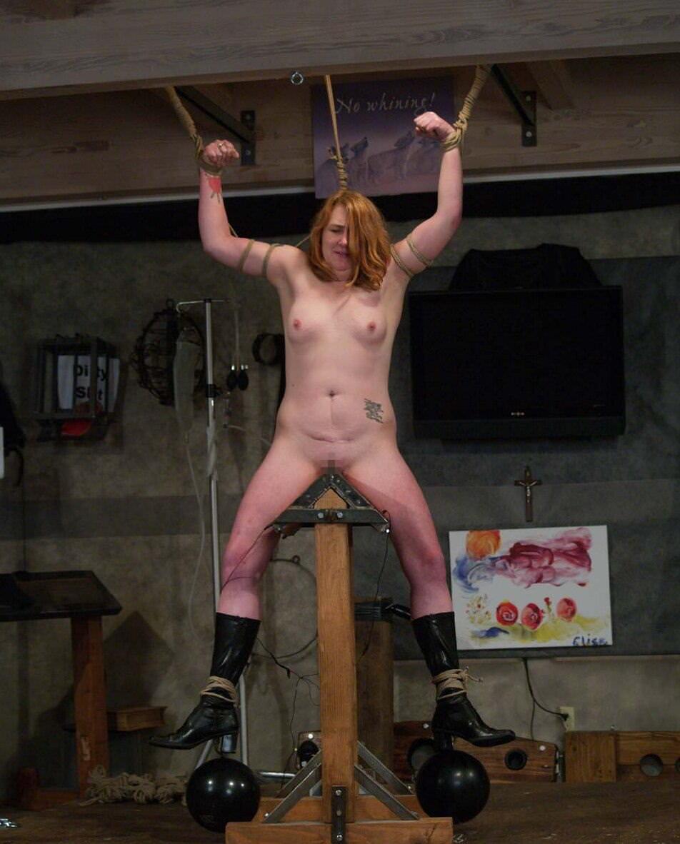 【閲覧注意】ガチの三角木馬とかいう拷問器具怖すぎwwwwwwwwwww(画像あり)・25枚目