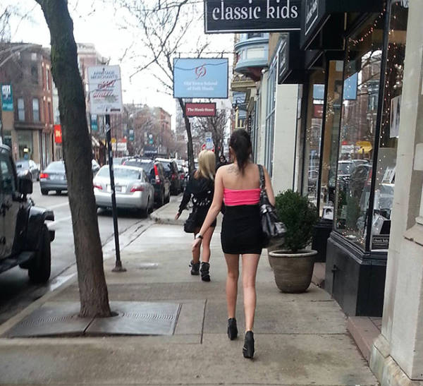 【エロ画像】飲み明かした朝帰り女子さんの身なりをご覧くださいwwwwwwwwwwww・13枚目