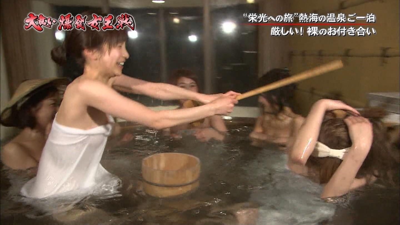 【放送事故】バスタオルから濡れ透け・・・温泉レポート番組編(画像22枚)・6枚目