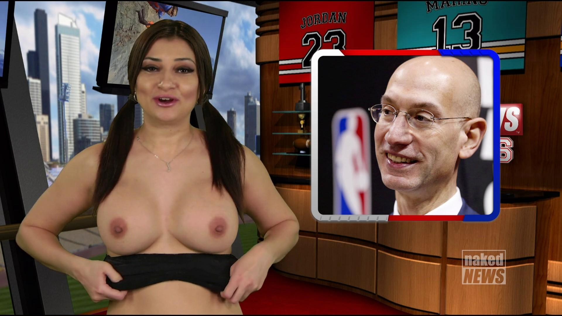 【悲報】海外の女子アナさん、全裸報道で視聴率を稼ぐwwwwwwwwwwww(画像あり)・3枚目