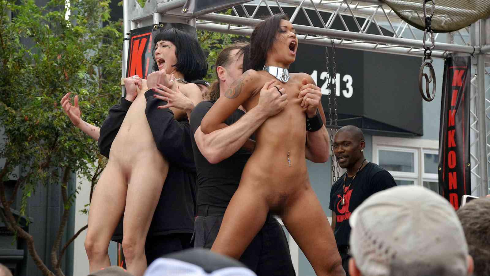 【批判殺到】街中で行われたSMイベントがエロ過ぎる・・・(画像40枚)・21枚目