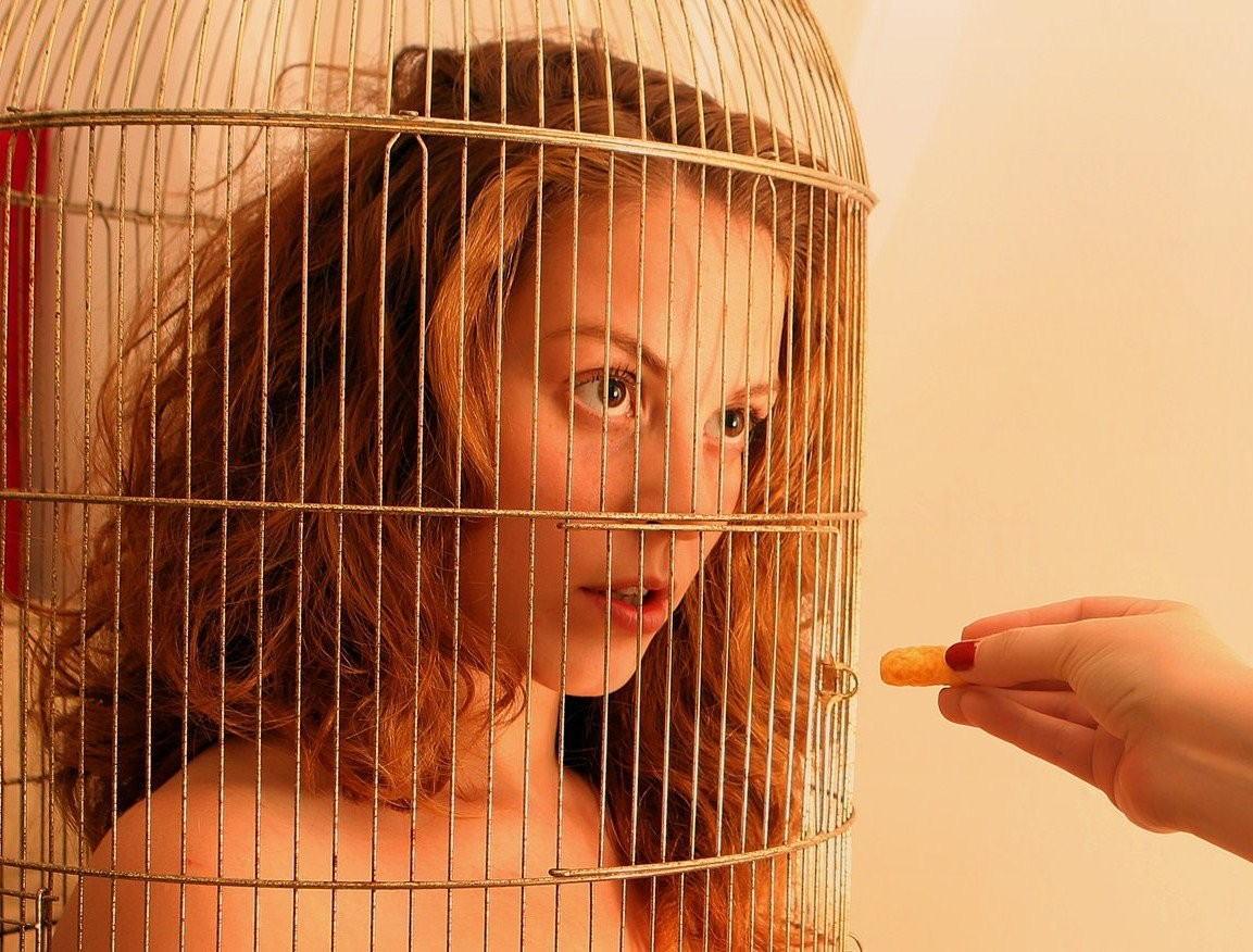 【悲報】鳥かごで飼育されてる女たちをご覧ください(32名)・14枚目