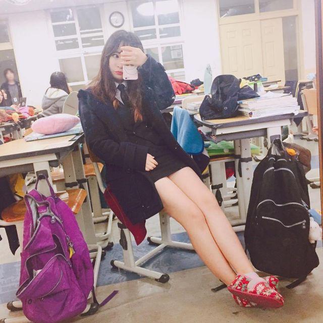 娼婦チックな韓国の制服JK、期待を裏切らないセクスィーさwwwwwwww(画像27枚)・26枚目