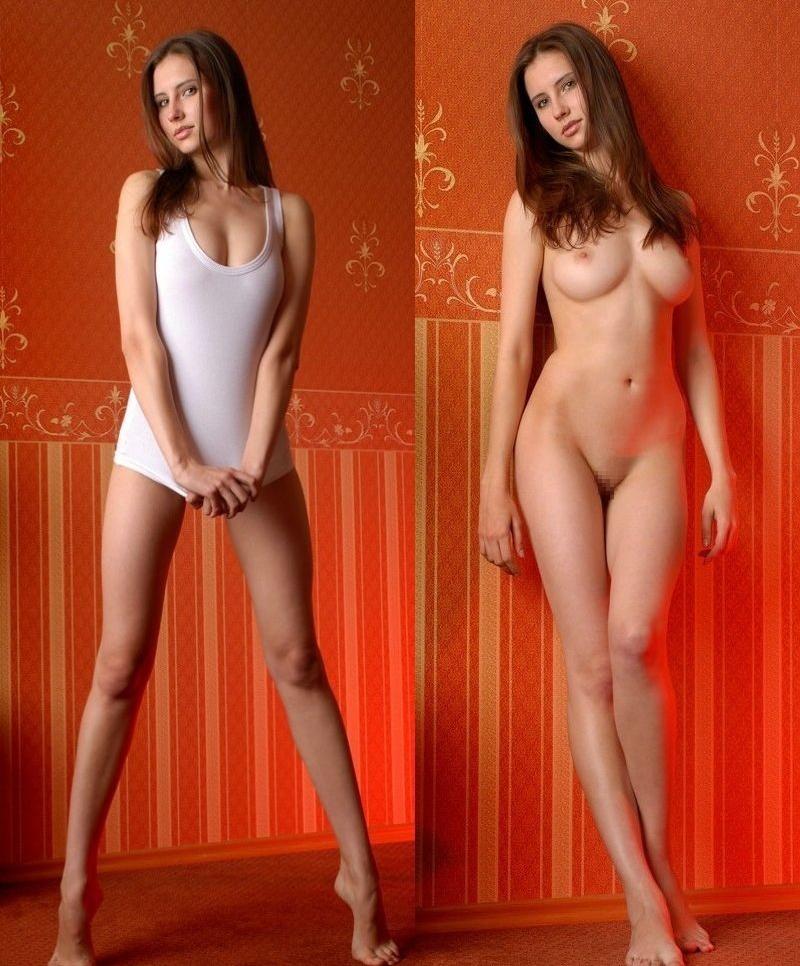 着衣⇔ヌードを並べて比較画像をペタペタ貼って盛り上がるスレ。(38枚)・5枚目