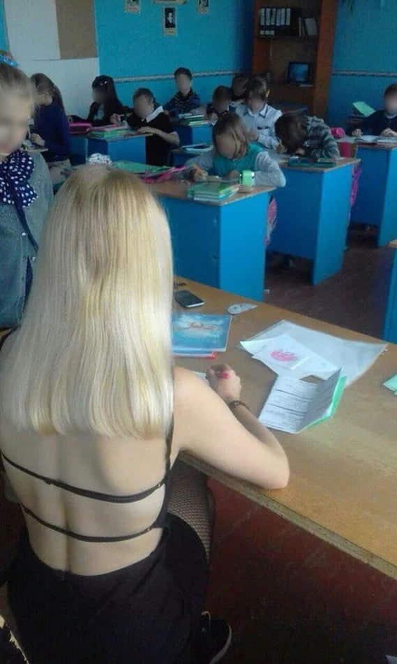 授業参観でお父さんが集まるロシアの女教師の画像集(34枚)・2枚目